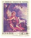 Stamps Ecuador -  IV Congreso eucaristico nacional. El buen pastor. M. Samaniego