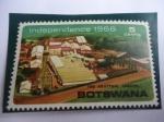 Stamps Botswana -  Independencia del Reino Unido en 1966 -  República de Botsuana - EL Matadero -Lobatsi.