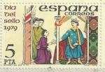 Stamps : Europe : Spain :  2526 - Dia del sello 1979