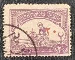 Stamps : Asia : Turkey :  Turkey Great War Cinderella : Red Crescent Fund (Nurse), 2 1/2 piastre, 1916