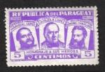 Sellos del Mundo : America : Paraguay : Héroes Nacionales, Marshall Francisco Solano López, Carlos Antonio López, General