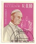 Stamps Ecuador -  Papa Pablo VI.