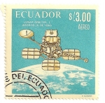 Stamps Ecuador -  Exploracion lunar. Satelite Lunar Orbiter I