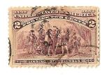 Sellos del Mundo : America : Estados_Unidos : Desembarco de Cristobal Colon.