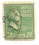 Stamps : America : United_States :  Presidente James A. Garfield. 1881