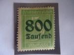 Sellos de Europa - Alemania -  Números - Alemania, Reino - Serie:Inflación - 800 sobre 5Pf.