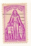 Stamps : America : United_States :  Lucha contra la poliomielitis.