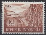 Stamps Indonesia -  1960 - Caña de azucar TEBU