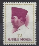 Stamps : Asia : Indonesia :  1966 - Sukarno I