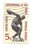 Stamps : America : United_States :  Cent. de la fundacion atletica Sokol en America.