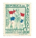 Stamps : America : Paraguay :  1957 - Homenaje a los heroes del chaco I