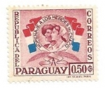 Stamps : America : Paraguay :  1957 - Homenaje a los heroes del chaco II