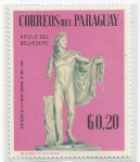 Stamps : America : Paraguay :  1967 - Apolo de Belvedere