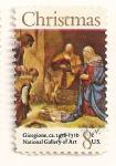 Stamps : America : United_States :  Navidad 1971. Adoracion de los pastores (Giorgione)
