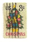 Stamps : America : United_States :  Navidad 1973. Arbol bordado.