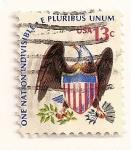 Stamps : America : United_States :  Aguila y escudo.