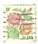Stamps : America : United_States :  Rosas