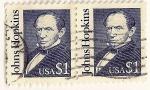 Stamps America - United States -  Americanos ilustres. John Hopkins.