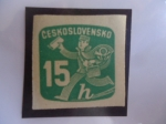 Stamps Czechoslovakia -  cartero - Sello de periódico (1945/47)