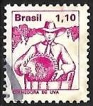 Sellos del Mundo : America : Brasil : profesiones - recolector de uva