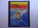 Stamps : America : United_States :  Probing the Planets - Sondeando los Planetas - Un logro pionero