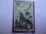 Stamps : Africa : Algeria :  La Mesquita y el Desfiladero en el Municipio de El Kantara (Biskara-Arg.)