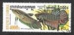 Stamps Cambodia -  1950 - Betta Esmeralda