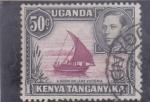 Stamps Uganda -  BARCO TIPICO EN LAGO VICTORIA