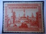 Stamps : Europe : Croatia :  Sarajevo-Nezavisna Drzava Hrvatska (1941-1951)  Aniversario.