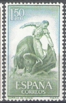 Stamps Spain -  1263 Tauromaquia.Natural.