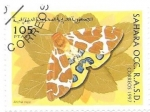 Stamps : Africa : Morocco :  mariposas