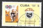 Stamps Cuba -  3101 - L Aniversario de la Organización Central de Sindicatos Cubanos