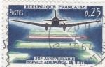 Sellos del Mundo : Europa : Francia : 25 ANIV.SERVICIO AEROPOSTAL NOCTURNO