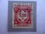 Stamps : Europe : Germany :  Protectorado de Bohemia y Moravia - Valor dentro de una Corona de Laurel.