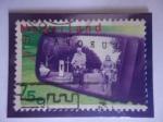 Stamps Netherlands -  Ciclistas en el Retrovisor de un Automóvil - Serie:Europa C.E.P.T.