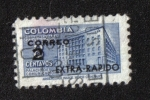 Sellos del Mundo : America : Colombia : Sello expreso, sobreimpreso posterior a la construcción