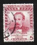 Sellos del Mundo : America : Colombia : José Martí (1853-1895), Cent de nacimiento. Patriota cubano