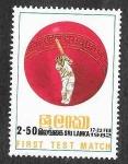 Stamps : Asia : Sri_Lanka :  627 - 150º Aniversario del Primer Partido de Cricket