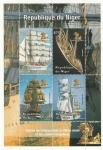 Sellos del Mundo : Africa : Níger : Barcos antiguos de navegación