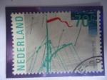 Sellos del Mundo : Europa : Holanda : Sail 85 Amsterdam - Vela 85 Amsterdam - Parte del Aparejo de un Bote-Velero.