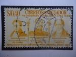 Sellos del Mundo : America : Ecuador : VII Congreso Postal de la UPAE 1955-Representantes a la I Conferencia Postal Americana-Bogotá 1838.