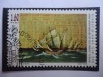 Sellos del Mundo : Europa : Italia : 500 Aniversario del viaje de Colón - Almanaque perpituum, por branham Zacut (1452-1515) Astrónomo-As