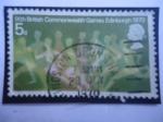 Sellos del Mundo : Europa : Reino_Unido : IX Juegos de la Commonwealth Británica-Edimbugo - Corredores - Mancomunidad Británica.