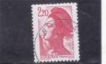 Stamps : Europe : France :  La libertad de- Eugene delacroix