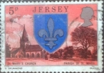 Stamps : Europe : Jersey :  Scott#139 intercambio 0,20 usd, 5 p. 1976