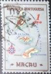 Stamps : Asia : Macau :  Scott#383 , Hbr intercambio 0,20 usd. 1 avo. 1956