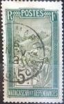 Stamps : Africa : Madagascar :  Scott#82 , intercambio 0,20 usd. 5 cents. 1908