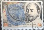 Stamps Europe - Malta -  Scott#11 , intercambio 1,25 usd. 2,5 p. 1885