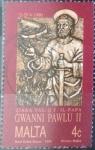 Stamps Malta -  Scott#759 , m4b intercambio 0,25 usd. 4 cents. 1990