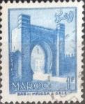 Stamps : Africa : Morocco :  Scott#312 , dmg intercambio 0,20 usd. 1 fr. 1955